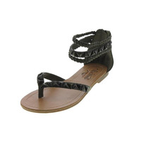 Unlisted Kenneth Cole Womens Pop Rock Faux Leather Embellished Gladiator Sandals
