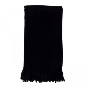 Cashmere Throw in Ebony by Alashan