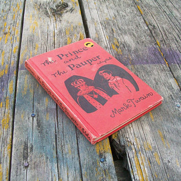 Vintage Book The Prince and the Pauper by Mark Twain 1953