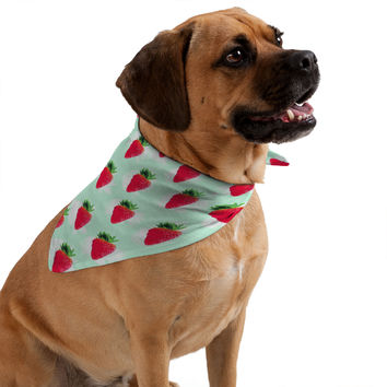 Jacqueline Maldonado Watercolor Strawberries Pet Bandana