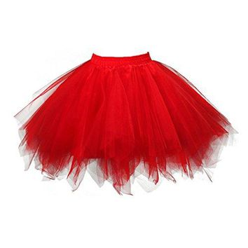Topdress Women's 1950s Vintage Tutu Petticoat Ballet Bubble Skirt (26 Colors)
