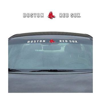 Licensed Official Brand New MLB Boston Red Sox Car Truck SUV Windshield Window Decal Sticker