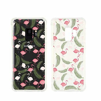 Cute Flamingo Pattern Transparent Silicone Plastic Phone Case for Samsung Galaxy S9 PLUS Phone_ SUPERTRAMPshop (Samsung S9 PLUS)