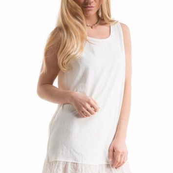 Shannon Eyelet Lace Trimmed Dress