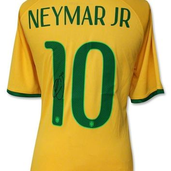 NEYMAR SIGNED AUTHENTIC BRAZIL JERSEY COA ICONS AUTOGRAPH SHIRT BRASIL MESSI