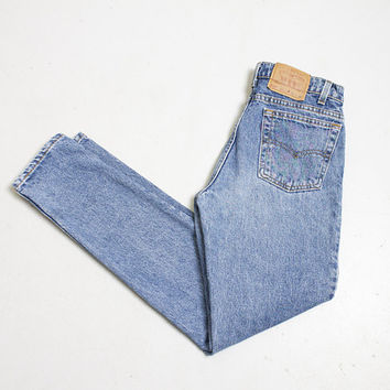 "Vintage Levi's 512 JEANS - Cotton Denim Slim Fit Tapered Leg High Waist Jeans 1990s - 30"" x 32"""
