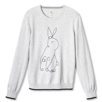 ED Animal Embroidered Sweater