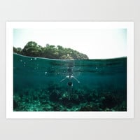 Floating Art Print by nicklasgustafsson