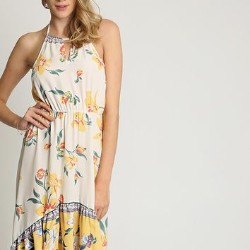 Stella Floral Halter Dress | Ruche