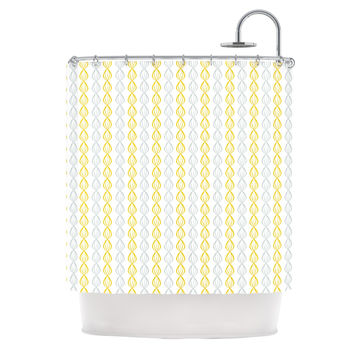 "Julie Hamilton ""Lemon Pod"" Yellow Gray Shower Curtain"