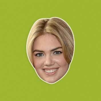 Happy Kate Upton Mask - Perfect for Halloween, Costume Party Mask, Masquerades, Parties, Festivals, Concerts - Jumbo Size Waterproof Laminated Mask