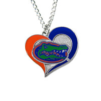 Florida Gators Women's Swirl Heart Necklace
