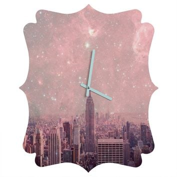 Bianca Green Stardust Covering New York Quatrefoil Clock