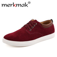 Suede Leather Men's Flats Shoes