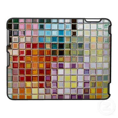 Sunny multi colored Flowers Mosaic iPad Speck Case from Zazzle.com