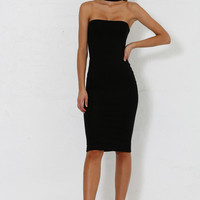 Michaela Multi Way Choker Dress - Black