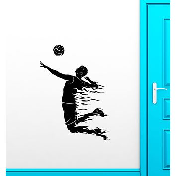 Vinyl Wall Decal Volleyball Game Player Sport Ball Stickers (3652ig)