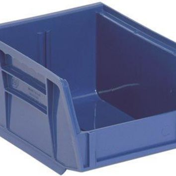 Quantum Storage Systems Stack And Hang Bin, 5-3-8 In. X 4-1-8 In. X 3 In., Blue
