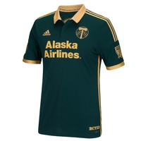 Portland Timbers adidas 2015 Third Authentic Jersey - Green