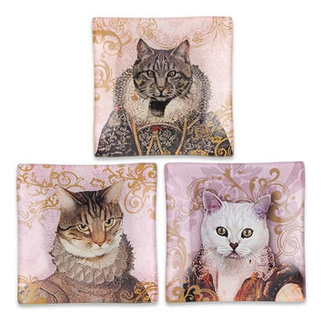 Royal Cat Glass Trays