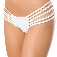 The Ibiza Bikini Bottom in White