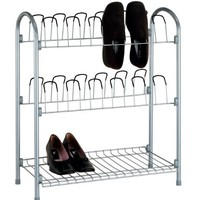 Organize It All 17704w 12 Pair Wire Shoe Rack With Storage Shelf (Pack of 3)