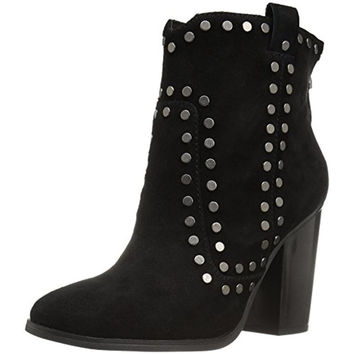 Lola Cruz Womens Los Angeles Suede Studded Ankle Boots