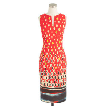 J.Crew Womens Collection Watercolor Mosaic Dress