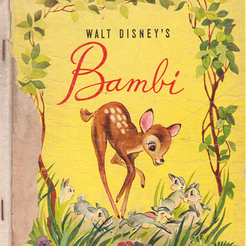 Walt Disney's Bambi - vintage picture book