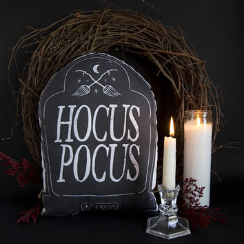 Hocus Pocus - Small Black and White Style - Handmade Plush Throw Pillow - Horror Inspired Home Decor - Killin Me Softly - KMSxCo