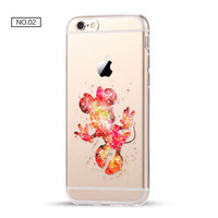 Bright Mickey Clear Soft Disney Phone Case For iPhone 7 7Plus 6 6s Plus 5 5s SE C