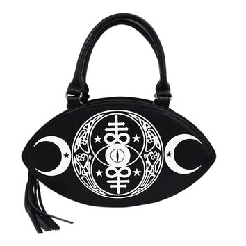New Moon Bag Gothic Occult Moon Magick & Leviathan cross Crossbody Handbag