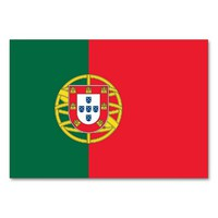 Patriotic table card with Flag of Portugal