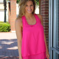 Say You Do Ruffle Back Top - Pink