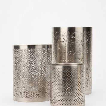 Punched Metal Votive Candle Holder