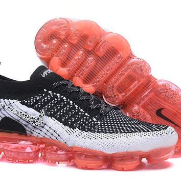 DCCK2 N334 Nike Air Vapormax Flyknit 2 Casual Running Shoes Black White Orange