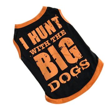 New Summer Breathable Cozy Dog Clothes Vest T-shirt With BIG Patterned Pet Clothing