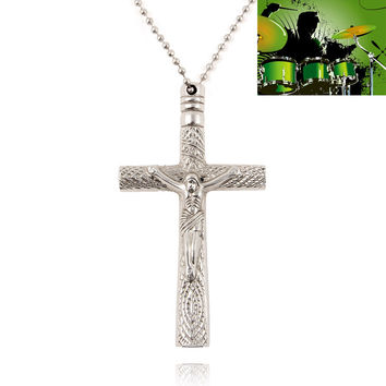 Practical Drum Key Chain Silver Cross Christian Necklace Drum Head Tuning Accessories Used to adjust the drum skin