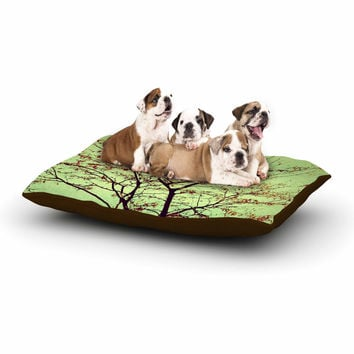 "Sylvia Coomes ""Modern Fall Tree"" Green Brown Dog Bed"