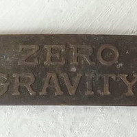 Zero Gravity Small Brass Plate, Industrial Tag, Altered Art or Steampunk Jewelry Maker's Craft Supply