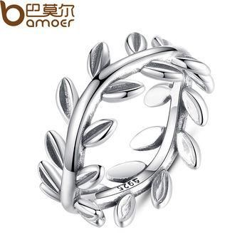 7 New Collection Authentic Laurel Wreath Laurel Leaves Ring 100% Fine 925 Sterling Sil