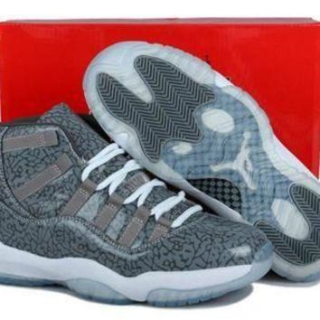 DCK7YE Cheap Air Jordan 11(XI) 3Lab5 Men Shoes Cool Grey Custom