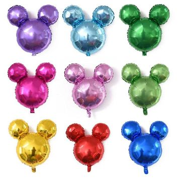 1PC 63*69 cm Mickey Mouse Head Aluminium Foil Balloons Baby Shower Happy Birthday Party Decorations Supplies Balls For Kids Gift