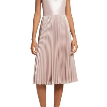 Ted Baker London Bow Neck Fit & Flare Dress | Nordstrom