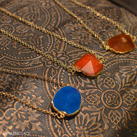 Autumn Treasure Gem Stone Necklaces