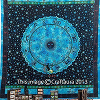 "1 X Zodiac Tapestry Wall Hanging Horoscope Tapestry Indian Astrology Hippie Wall Tapestries for Dorms Boho Twin Bedding Zodiac Tapestry. (85"" X 55')"
