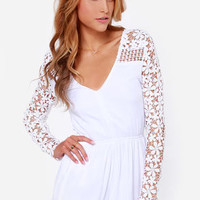 Crochet What? White Crocheted Romper