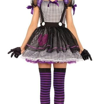 Barbie Voodoo Doll Costume Women Adult Clown Circus Cosplay Carnival Halloween Costumes For Women