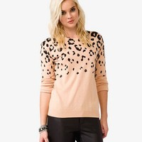 Wool-Blend Cheetah Sweater