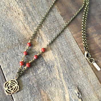 Root Chakra Gemstone Delicate Necklace